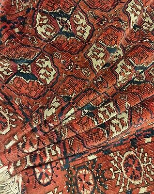 Antique Turkmen Tekke Dowry Rug VERY FINE WEAVE  n22
