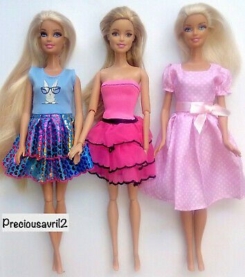 Brand new barbie doll clothes outfit clothing sets set of 3 outfit dress summer