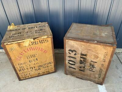 Vintage Antique Kenya Tea Chests Cafe Bar Retro Tin Kitchen Restaurant Display