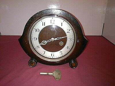 Smiths Enfield Antique Art Deco Striking Mantel Clock,