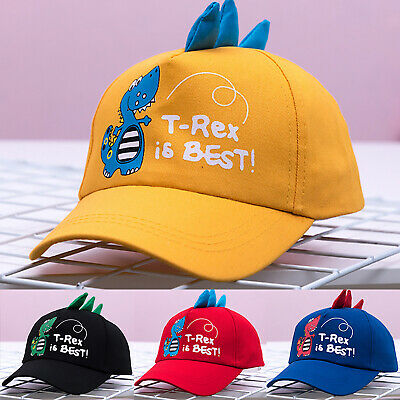 Kids Boys Girls Dinosaur Baseball Cap Adjustable Snapback Travel Outdoor Sun Hat