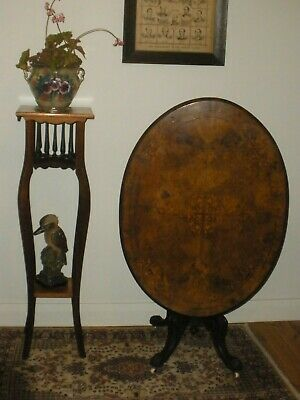 ANTIQUE Vintage TALL Mahogany PALM STAND 123cm high Timber Plant Stand