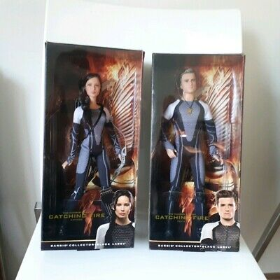 The Hunger Games Catching Fire Katniss & Peeta Black Label Collector Barbies