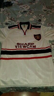 1998/99・Manchester United・Away Shirt・XL・Extra Large • WHITE・MUFC・Jersey・Vintage