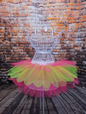Ladies Neon Sparkle Tutu Skirt 80'S Fancy Dress Costume Hen Party Fun Run