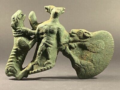 Highly Decorated Ancient Luristan Bronze Axe Head Stunning Detail C.1200-1000Bce