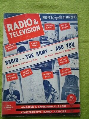 Radio And Television News / Jan 1941 / Radio - The Army - And You