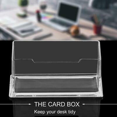 Transparent Table Business Card Holder Display Stand Acrylic Plastic Desk Shelf