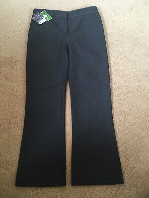 Girls School Trousers Active Waistband Ex BHS Grey New Size 7 Years