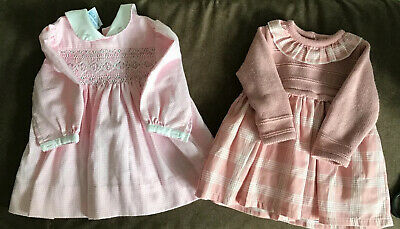 Baby Girls Smock Dress + knitted top dress Age 0-3 Months