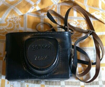 Zorki 4K Rangefinder Camera With Jupiter - 8 Lens And Leather Case.
