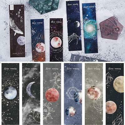 Universal Poetry Bookmarks Set 30 Pcs Pack - Cute Astronaut Space Poems-Boo I8O7