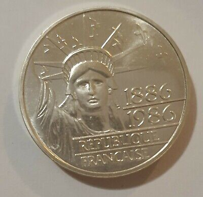 1986 France Silver 100th Anniversary Coin 30.1 grams,  .920 Purity