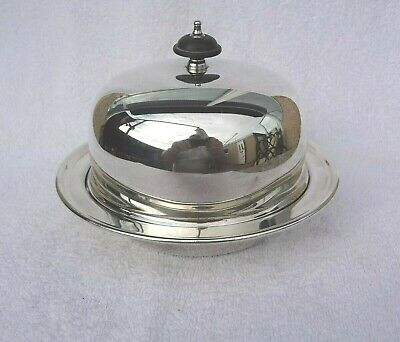 Antique three pc Silver Plated Muffin Serving Dish by  Elkington & Co. England