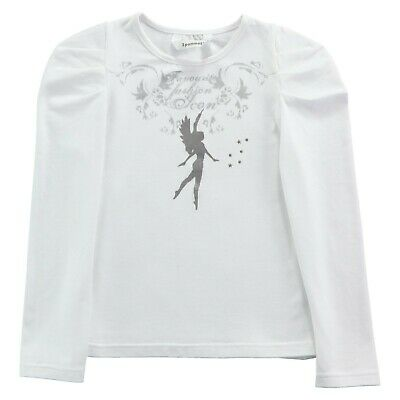 3POMMES Girl White and silver fairy long sleeved top 10 years