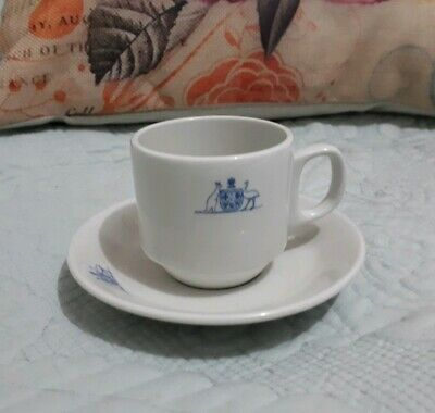 Australian Commonwealth Government Coat Of Arms 4oz Expresso Cup & Saucer
