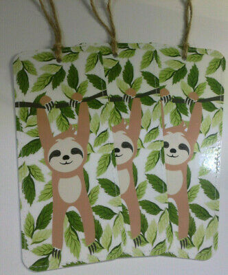 3x Bookmarks Sloth Birthday Christmas Party Stocking Filler Gift