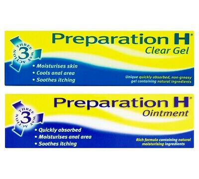 Prepration H Clear Gel/Ointment, Itching & Irritation Anal Area Cooling Relief