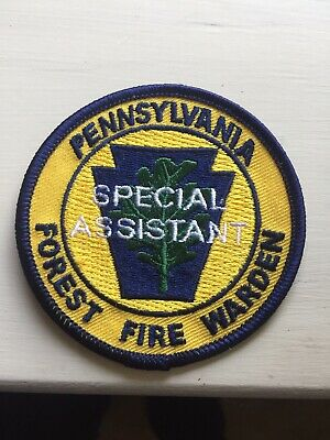 """Vintage Pennsylvania Patch """"Special Assistant"""" Forest Fire Warden"""