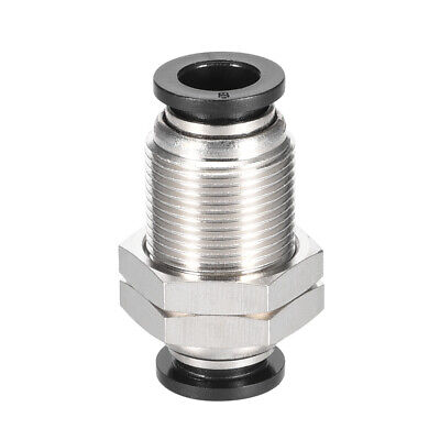 Straight Pneumatic Push to Quick Connect Fittings Bulkhead Union 8mm Tube OD