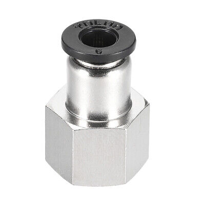 Push to Connect Tube Fitting Adapter 6mm OD x 1/4 NPT Straight Connecter
