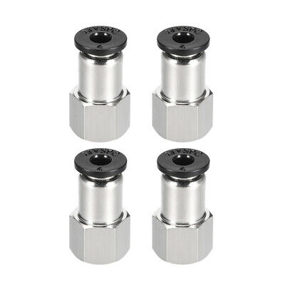 Push to Connect Tube Fitting Adapter 4mm OD x 1/8NPT  Female Connecter 4pcs