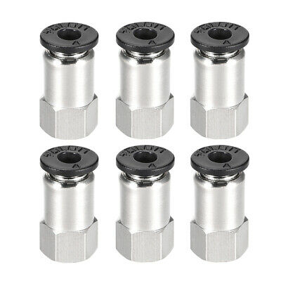Push to Connect Tube Fitting Adapter 4mm OD x M5 Female Connecter 6pcs