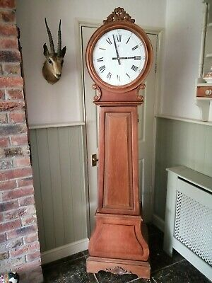 Antique Style Scottish Drumhead Longcase Grandfather Clock