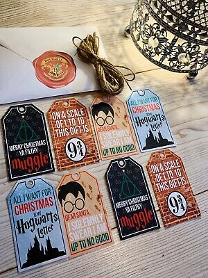 Harry Potter Christmas Gift Tags - Large Pack Of 20 - Twine Included - Handmade