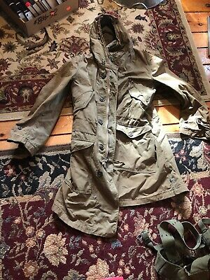 Vintage 40's WW2 Parka US Army Unlined Army