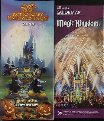 Mickey's Not So Scary Halloween Party MNSSHP 2019 Park Map + Bonus Map!! WDW