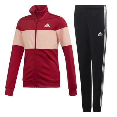 Adidas Girls Track Suit Hooded Set Running Training School Fashion Sports ED4640