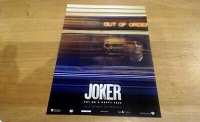 JOKER ODEON PREMIERE PROMO UK ONLY CINEMA POSTER 2019 NEW Joaquin Phoenix
