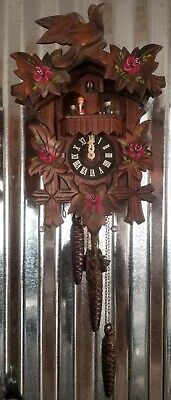 German MAPSA Cuckoo CooCoo Black Forest Regula Clock with Rotating Dancers NICE