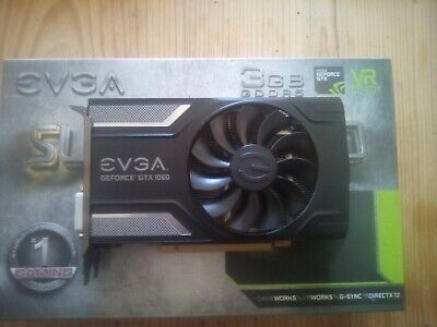 EVGA GeForce GTX 1060 3GB SC GAMING, ACX 2.0 (Single Fan), GDDR5, DX12 OSD