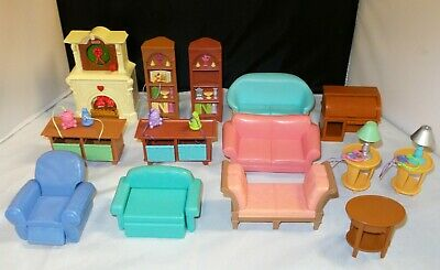 Fisher Price Loving Family LIVING ROOM Furniture Couch Bookcase - YOU CHOOSE