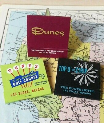 ⛳The Dunes Hotel & Golf course Resort Matchbook lot- Vintage Las Vegas matches🎲