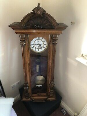 Antique Single weight Vienna regulator wall  Clock