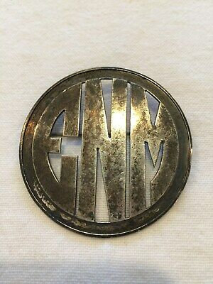 Estate Sterling Silver Pin Initials ENM