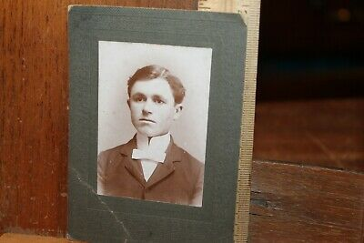 Antique Photo Late Victorian Edwardian Handsome Young Man