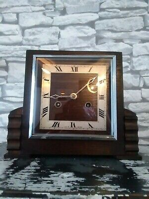 Antique art deco mantle clock made in Great Britain