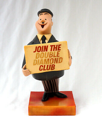 Rare Rubberised 1970s Pub/Bar Advertising Figure/Sign. Double Diamond Beer Sign.