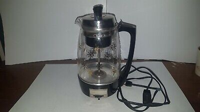 Proctor Silex 70553 SCM Glass Percolator Coffee Maker Vintage Atomic Stars