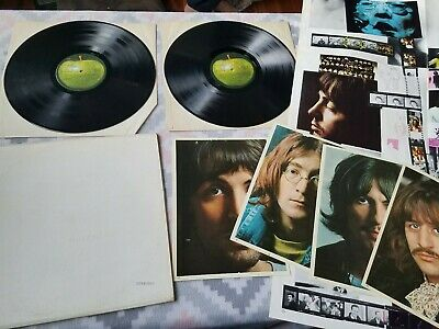 The Beatles White Album Apple lp record 1968 numbered poster pics nice