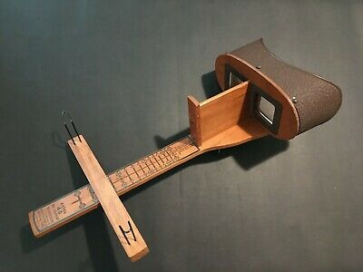 1940's Wooden Keystone Model 40 Eye Comfort Stereoscope Viewer For Stereoviews
