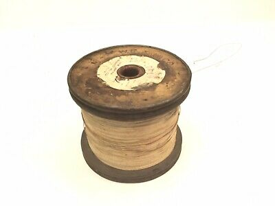 Old 1923 W.E &M Co Radio Telephone Cotton Covered Magnet Wire Spool