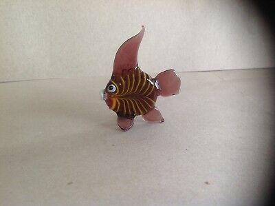Murano Glass,Pirelli;Glass Angel Fish Figure,Glass Tropical Fish Ornament