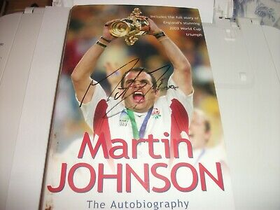 England Rugby World Cup Winning Captain,  2003, Martin Johnson Signed Autobiog.