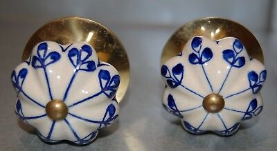 CERAMIC HAND PAINTED DRAWER KNOBS Cupboard Cabinet Door Handle Pulls large