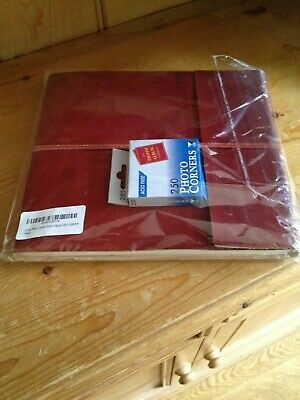 Handmade Large Plain Leather Photo Album Scrapbook 260 x 240mm Red